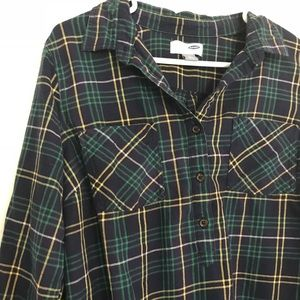 Old Navy Tops - Old Navy Plaid Flannel Popover